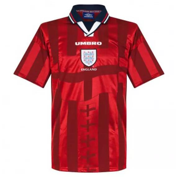 England Retro Soccer Jerseys 1998 Away Football Shirts